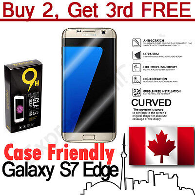$ CDN7.45 • Buy Case Friendly Curved Tempered Glass Screen Protector For Samsung Galaxy S7 Edge