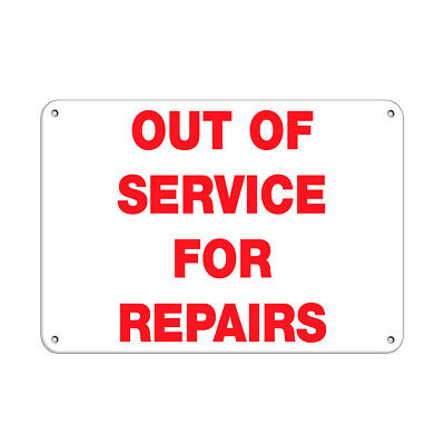 $38.99 • Buy Out Of Service For Repairs Business Sign Elevator Signs Aluminum METAL Sign