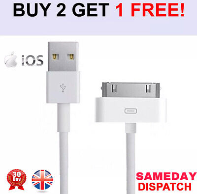 Genuine Charging Cable Charger Lead For Apple IPod,iPad2&1 IPhone 4,4S,3GS OEM • 1.95£