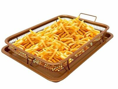 View Details Gotham Steel Copper Crisper Tray - AIR FRY IN YOUR OVEN - As Seen On TV - NEW! • 35.99$ CDN