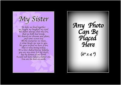 £5.99 • Buy My Sister Poem Personalised With ANY PHOTO Birthday Christmas Gift