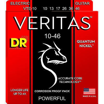 $ CDN10.19 • Buy DR Strings VTE-10 Veritas Electric Guitar Strings, Medium (10-46)