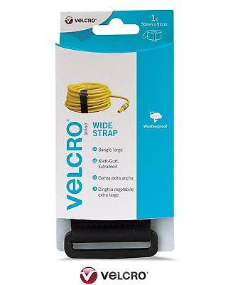 VELCRO® Brand Extra Wide Strong Adjustable Strap 50mm X 92cm Black Reusable • 5.49£