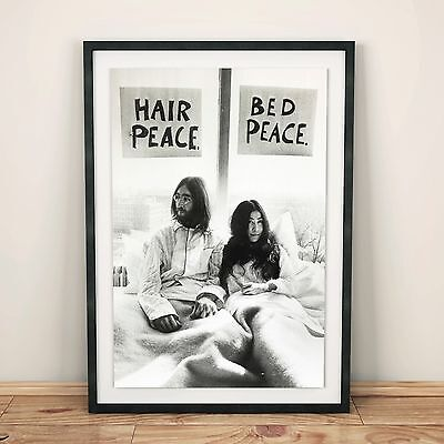 John Lennon And Yoko Ono Bed Protest Print - A4 / A3 / A2 • 17.99£