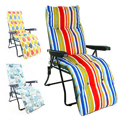 £49.99 • Buy Sun Lounger Luxury Padded Cushioned Relaxer Chair Outdoor Garden Patio Furniture