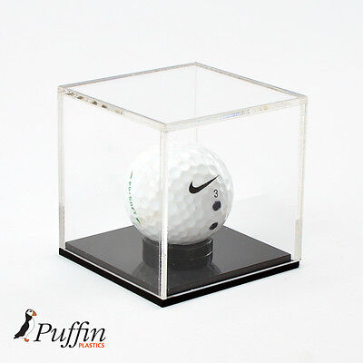 Acrylic Golf Ball Display Case With Black Base • 13.29£