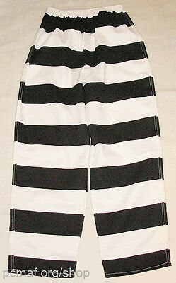$22.99 • Buy Black/White Prisoner/Convict/Inmate Striped Pants: Made In Montana USA By MCE