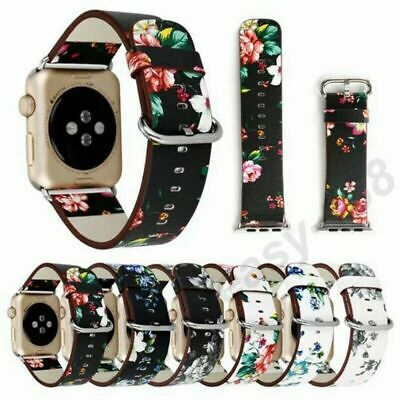 AU13.99 • Buy Apple Watch Band Series SE 6 5 4 3 2 1 Genuine Leather IPhone Watch Band 40 44mm