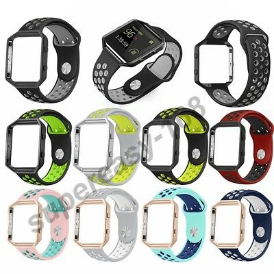 AU1.99 • Buy  Tracker S/L Silicone Sport Band Bracelet Strap+Frame For Fitbit Blaze Tracker