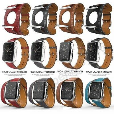 AU20.62 • Buy Genuine Leather Apple Watch Band Series SE 6 5 4 3 2 1 IPhone Watch Band 40 44mm