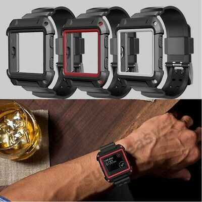 AU15.99 • Buy Rugged Protective Case With Silicone Wrist Strap Bands For Fitbit Blaze Watch