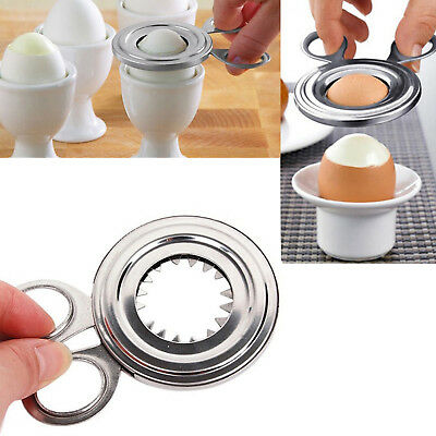 £4.95 • Buy Boiled Egg Shell Cutter Topper Opener Kitchen Useful Tools Stainless Steel Tool