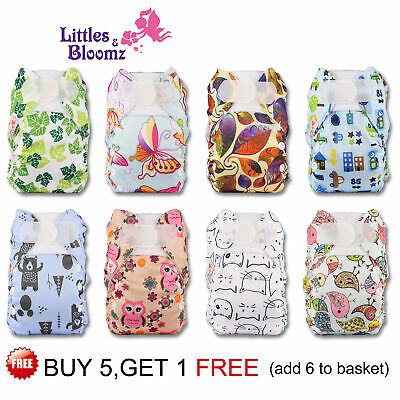 Reusable Washable Pocket Cloth Nappy For PREMATURE And NEWBORN Adjustable • 5.19£