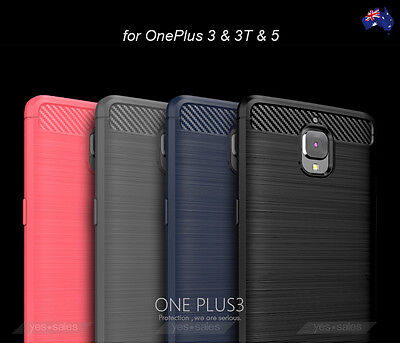 AU9.95 • Buy OnePlus 5 5T Case Black Slim Armor Shockproof TPU Heavy Duty Cover OnePlus 3T 3