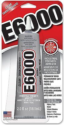 £7.26 • Buy E-6000 Industrial Strength Adhesive Clear Flexible Paintable Craft Glue Hq