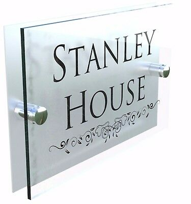 Acrylic House Signs Plaques Door Number 1 - 999 Personalised Wall Address • 7.99£