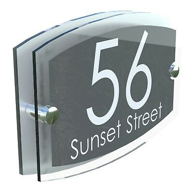 Classsic House Signs Plaques Door Numbers 1 - 999 Personalised Name Plate • 9.99£
