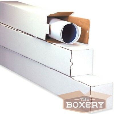 $47.50 • Buy 3x3x18 White Corrugated Square Mailing Tubes 50/cs From The Boxery