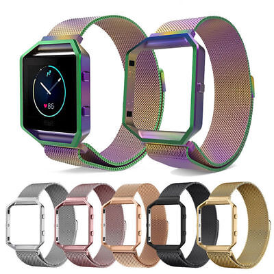 AU18.76 • Buy Replace Mesh Stainless Steel Strap Wrist Band+Metal Frame For Fitbit Blaze Watch