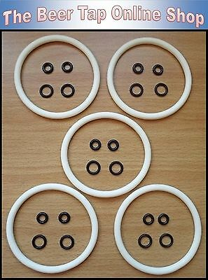 Silicone Keg O Ring Cornelius Seal Kit For Ball Lock Corny Beer Kegs - Homebrew • 7.75£