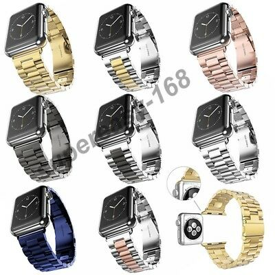 AU19.99 • Buy Stainless Steel Wrist Bracelet Clasp For Apple Watch Band IWatch Band 38mm/42mm