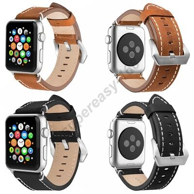 AU22.89 • Buy New Genuine Leather Band Single Tour Bracelet Watchband For Apple Watch 38/42mm