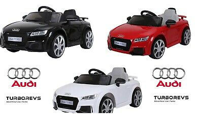 12v OFFICIAL AUDI TT RS LICENSED KIDS ELECTRIC RIDE ON CAR TOY PARENTAL REMOTE • 134.99£