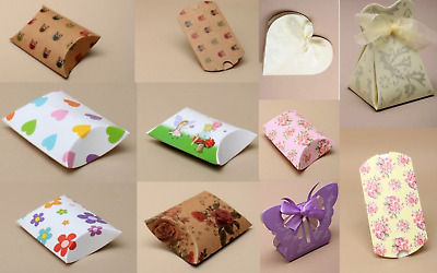 £8.99 • Buy Gift Box Pillow Pack Box Gift Bag Favours Present Wrapping For Jewellery & Gifts