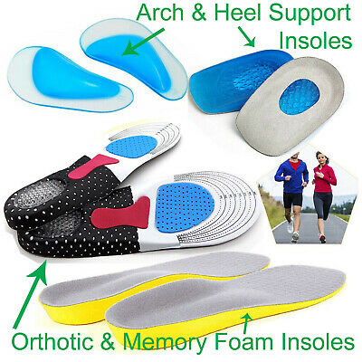 Unisex Orthopaedic Memory Foam Shoe Pads Trainer Soft Foot Feet Comfort Insoles • 2.95£