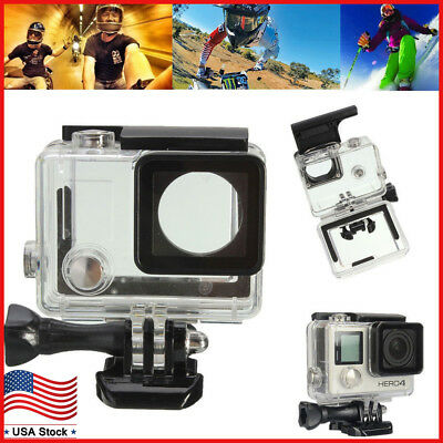 $ CDN12.67 • Buy Waterproof Diving Surfing Protective Housing Case For GoPro Hero 4 Silver/Black