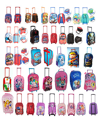 £17.99 • Buy Children Character Trolley Bags Wheeled Bag Hand Luggage's Backpack Style