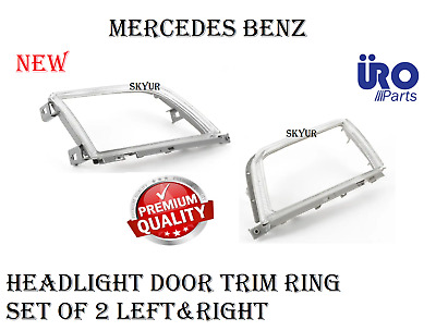$110.82 • Buy Headlight Door Trim Ring Set Of 2 Left & Right For Mercedes W129 Sl320 SL500 URO