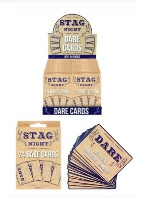 £2.89 • Buy 24 X STAG DO DARE CARDS GAME BOYS NIGHT OUT GUYS CARDS STAG PARTY ACCESSORIES