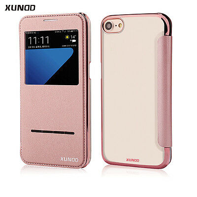AU6.99 • Buy For IPhone 8 Plus Case Window PU Leather Flip Ultra Thin Cover S8 IPhone SE 7 8
