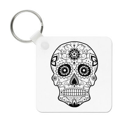 Black Sugar Candy Skull Keyring Key Chain - Funny • 5.99£