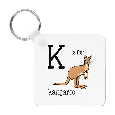 Letter K Is For Kangaroo Keyring Key Chain - Australia Alphabet Funny • 5.99£
