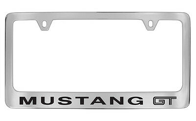 Ford Mustang GT Logo Chrome Plated Metal License Plate Frame Tag Holder • 31.95$