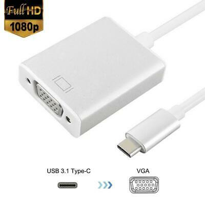 AU8.70 • Buy USB Type-C Thunderbolt3 To VGA Cable Converter Adapter Fr Macbook Dell Lenovo HP