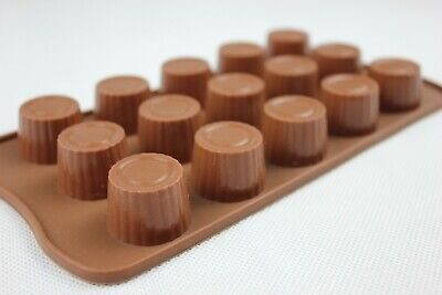 Silicone Chocolate Mould Round Cup Shape Mould Jelly Ice Cube Soap Candle Tray • 3.25£