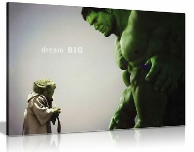 The Hulk Comic Book Movie Canvas Wall Art Picture Print • 15.99£