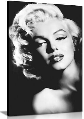Marilyn Monroe Print Black And White Canvas Wall Art Picture Print • 11.99£