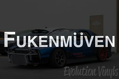 $1.99 • Buy Fukenmuven V1 Decal Sticker - JDM Lowered Stance Low Drift Slammed Turbo Boost