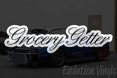 $1.99 • Buy Grocery Getter V1 Decal Sticker - JDM Lowered Stance Low Drift Slammed Turbo NOS