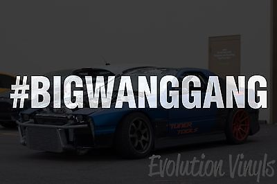 $1.99 • Buy BIGWANGGANG V1 Decal Sticker - JDM Lowered Static Stance Low Drift Slammed