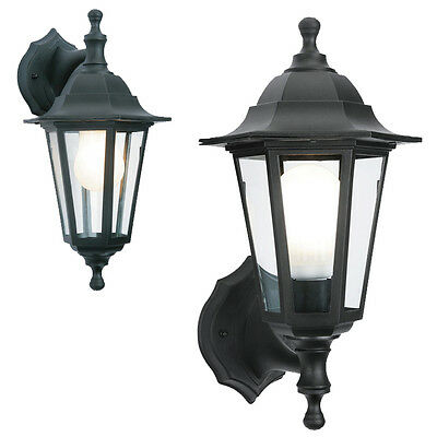2 In 1 Black Rustproof Traditional Coach House Wall Garden Outside Lantern Light • 11.94£
