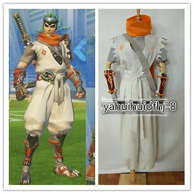 $ CDN117.43 • Buy 2020 Cosplay Costume Sparrow Young Genji Full Set White Suit