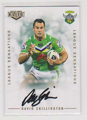 AU150 • Buy David Shillington Signed League Sensations Signature Card Number 066/130
