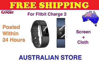 AU5.98 • Buy 3Pcs Invisible Clear Front Screen Protector Films Cover For Fitbit Charge 2