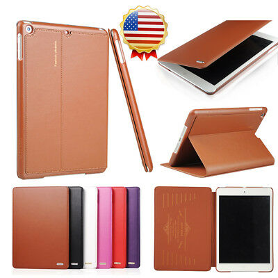 $10.99 • Buy Top Grade Business Cowhide Genuine Leather Case For IPad Pro/air/mini 1 2 3/10.5