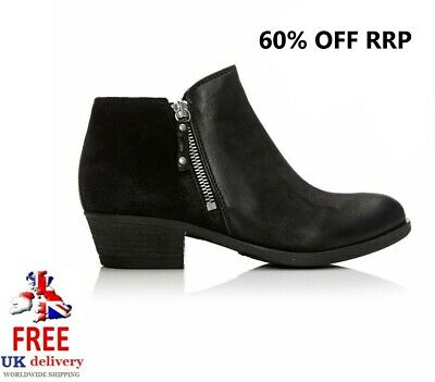 Moda In Pelle Winter Boots With Outside Zip Clearance Stock Sale 65% Off Rrp • 29.99£